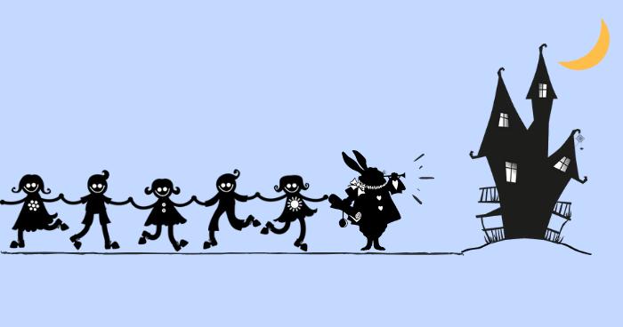 不思議の国に誘うウサギ